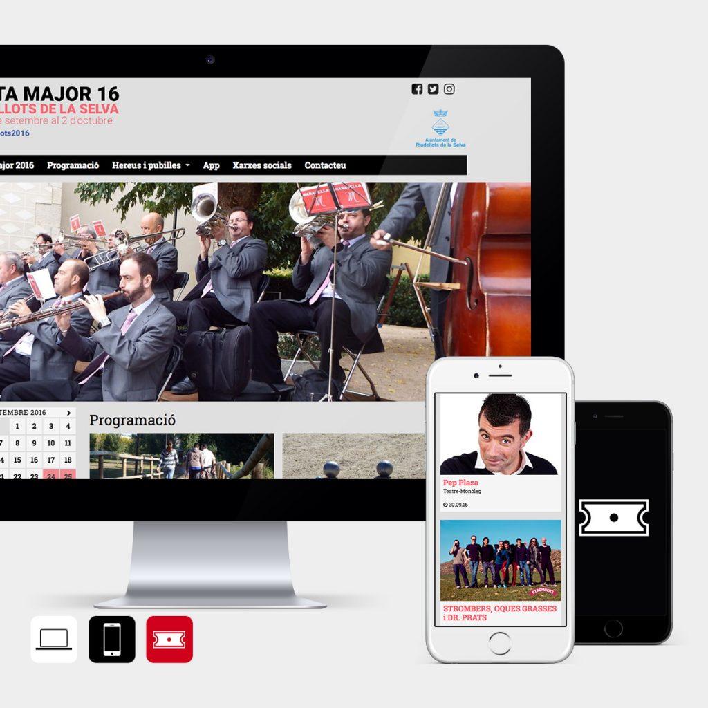 Web, app i entrades per promocionar una festa major