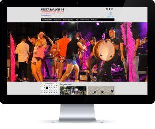 Imagen de las portadas del web y la app de una fiesta mayor