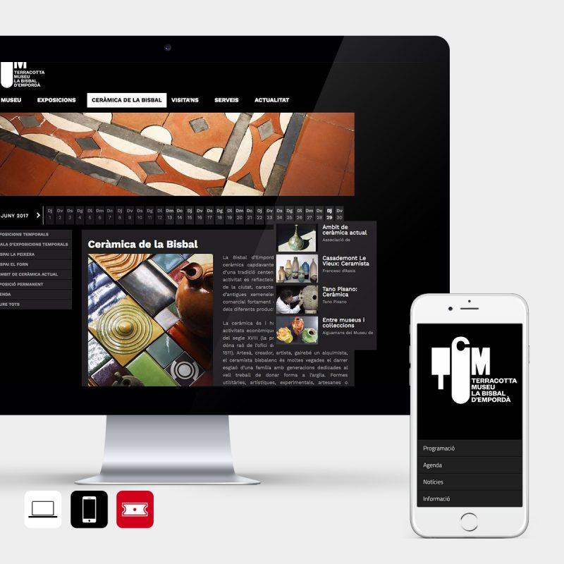 Dissenyem el web i l'app del Museu de Terracotta de la Bisbal