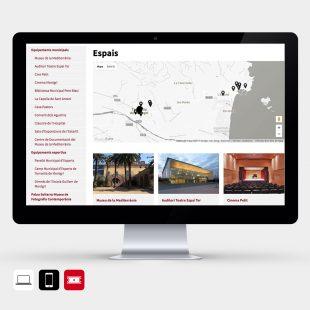 Pàgina dels espais del web Agenda de Torroella