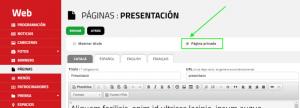 Panell de control: acció que per convertir una pàgina pública en privada.