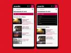 Dos exemples de les millores introduides a la vista mòbil