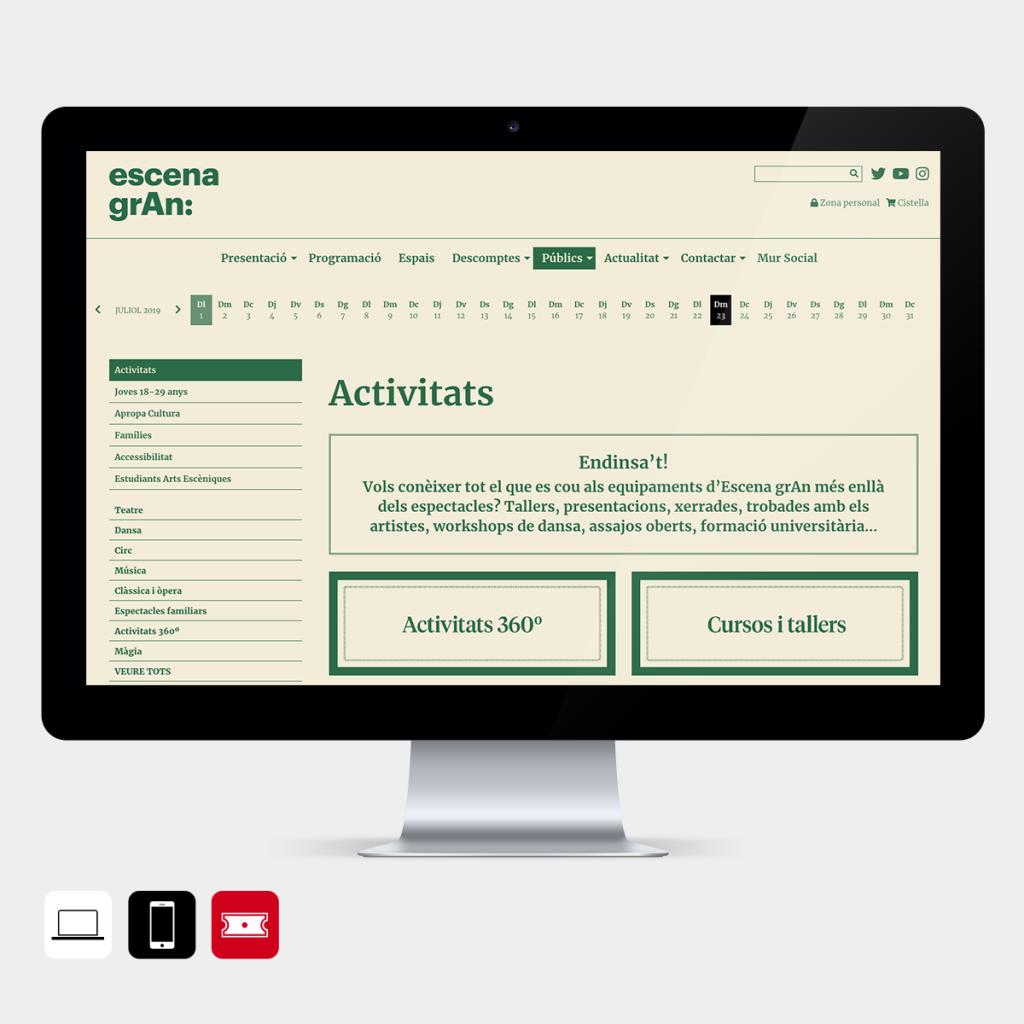 Secció públics del web d'Escena Gran